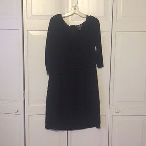 Black size 14 pleated dress